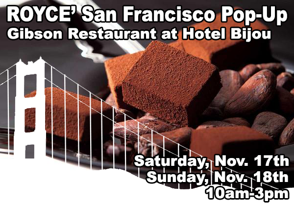 ROYCE' Returns to San Francisco: Get Ready for Another Pop-Up Nov. 17th and 18th!