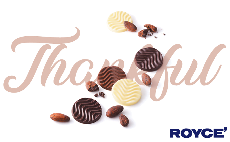5 Things We're Thankful for at ROYCE' Chocolate