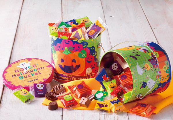 ROYCE' Halloween Bucket variety pack of Japanese chocolates and confections for the Halloween season.