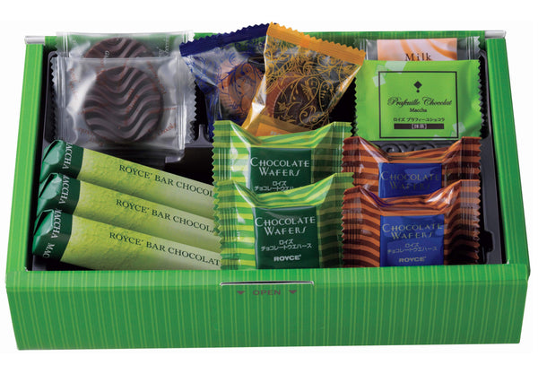 "ROYCE' Variety Pack ""Flavorful"" chocolates content"