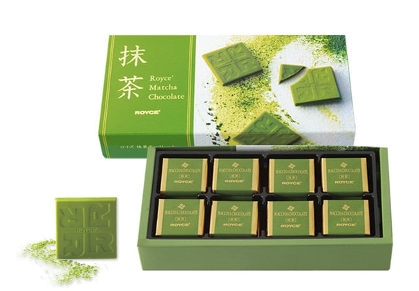 Matcha Chocolate packaging and contents