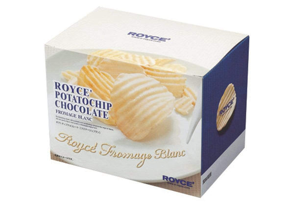 "Potatochip Chocolate ""Fromage Blanc"" packaging"