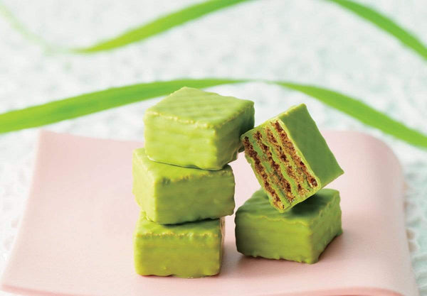 "Chocolate Wafers ""Matcha"" wafers with white chocolate infused with green tea"