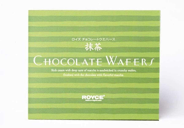 "Chocolate Wafers ""Maccha Cream"" box"