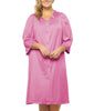 Perfumed Rose Exquisite Form® Button-Front 3/4 Sleeve Robe 10107 image 2 - Brayola