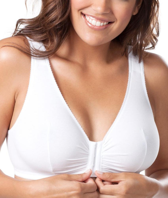 e2bc980b17e White Leading Lady Front Close Wire-Free Bra 110 image 1 - Brayola