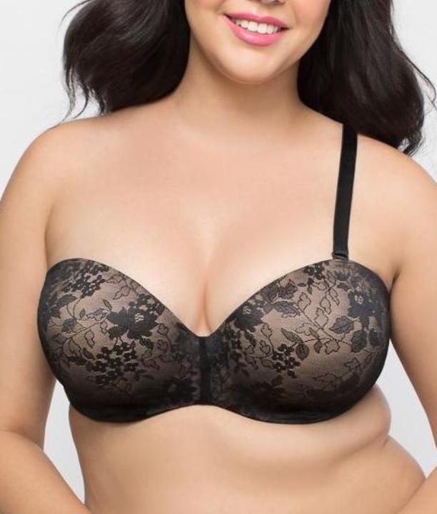 83c2061fc5 ... Curvy Couture Convertible Strapless Push-Up Bra 1211 image 6 - Brayola