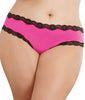 Hot Pink Black Dreamgirl Women's Cheeky Panty with Criss-Cross Back 1434X image 2 - Brayola