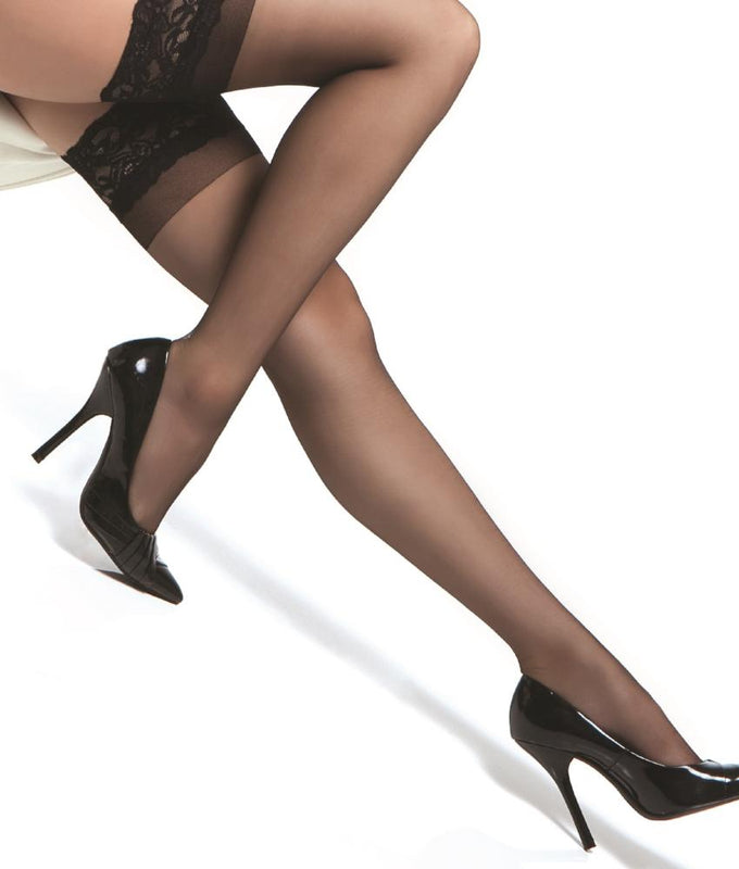 923b40b7d Black Coquette Lace Top Sheer Thigh Highs 1750 image 1 - Brayola