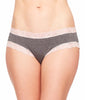 Charcoal Mix/ Pink Dawn Fleur't Iconic Boyshort Panties 205 image 2 - Brayola