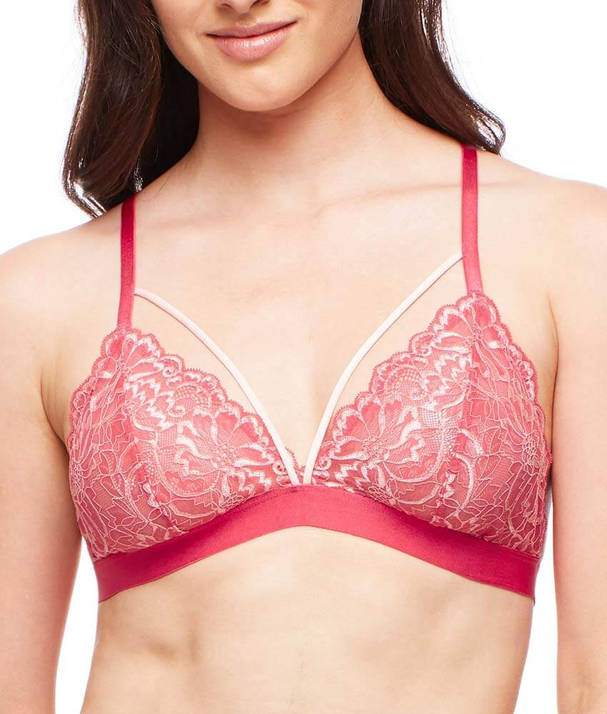 Fleur't With Me - Cross Dye Strappy Bralette