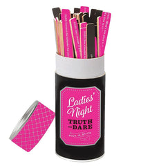 Black/Pink Chronicle Books Ladies Night Truth or Dare Pick a Stick 26344 image 2 - Brayola