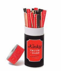 Black/Red Chronicle Books Kinky Truth or Dare Pick-a-Stick 26905 image 2 - Brayola