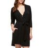 Black Fleur't With Me Summer Nights Robe 2905 image 2 - Brayola