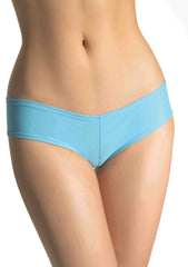 Light Blue Leg Avenue Lycra Booty Shorts 2987 image 2 - Brayola