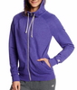 Space Purple Heather Champion Women's French Terry Full Zip Hoodie W0941 image 2 - Brayola