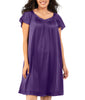 Exquisite Form® Knee Length Flutter Sleeve Nightgown 30109 image 5 - Brayola