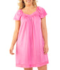 Exquisite Form® Knee Length Flutter Sleeve Nightgown 30109 image 3 - Brayola