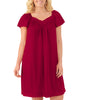 Sangria Exquisite Form® Knee Length Flutter Sleeve Nightgown 30109 image 2 - Brayola