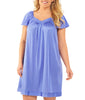 Exquisite Form® Knee Length Flutter Sleeve Nightgown 30109 image 4 - Brayola