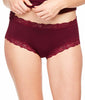Red Illusion Fleur't High-Waist Boyshort Panty 305 image 2 - Brayola