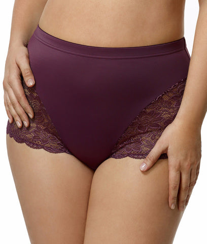 Elila Stretch Lace and Microfiber Cheeky Panty 3311