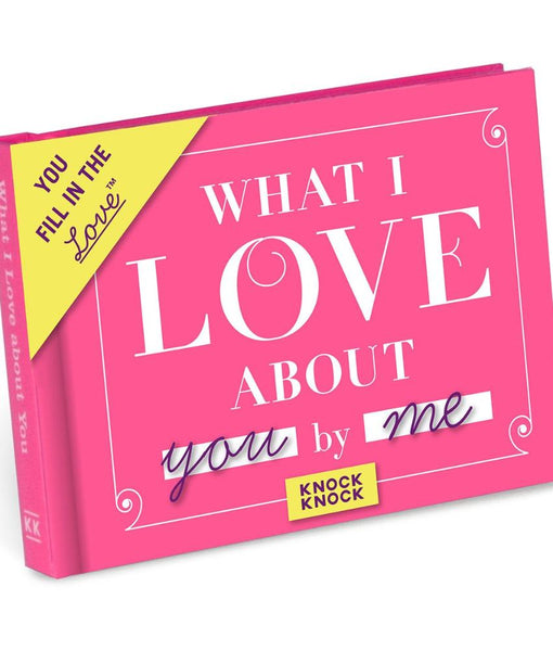 21135a773a Pink Knock Knock What I Love About You Activity Book 34976