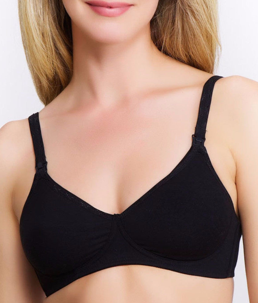 QT - Molded Cotton Blend Nursing Bra