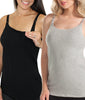 Black & Grey Combo Leading Lady Nursing Cami with Built Bra 4025-2PK image 2 - Brayola