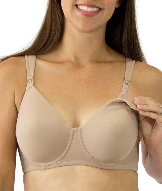 077426943 Warm Taupe Leading Lady Full Coverage Underwire Nursing Bra 4056 image 1 -  Brayola