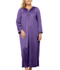 Purple Potion Exquisite Form® Long Sleeve Ankle Length Gown 50107 image 2 - Brayola