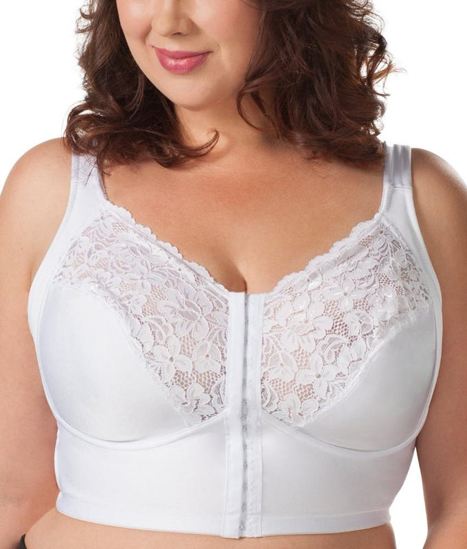 5d03880142c86 White Leading Lady Front Closure 3 4 Length Softwire Full Figure Bra 5010  image 1