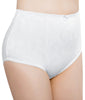 White Exquisite Form® Women's 2-Pack Floral Jacquard Shaper Panties - Medium Control Briefs 51070557A image 2 - Brayola