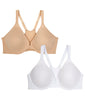 Nude & White 2PK Leading Lady Front-Close Racerback T-Shirt Bra 5415-2PK image 2 - Brayola