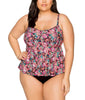 London Calling Black Curve Olivia Layered Tankini Top 592T image 2 - Brayola
