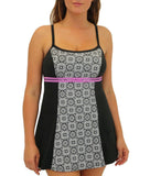 Fit4U Fit 4 Ur C's Blocked Double Bow Swim Dress 801201