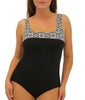 Black/White Fit4U Fit 4 Ur C's Square Neck Swimsuit 801205 image 2 - Brayola