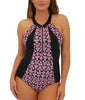 Pink Fit4U Fit 4 Ur C's High Neck Zip Swimsuit 801208 image 2 - Brayola