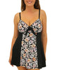 Black Fit4U Fit 4 Ur Thighs Vintage Tie Front Swim Dress 801221 image 2 - Brayola