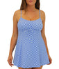 Blue Fit4U Fit 4 Ur Thighs Check it Out Drawstring Swim Dress 801231 image 2 - Brayola