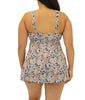 Fit4U Fit 4 Ur Thighs High Neck Plus Size Babydoll Swim Dress 802252 image 3 - Brayola