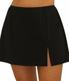 Fit4U Fit 4 Ur Hips Solid Slit Plus Size Swim Skirt 804102