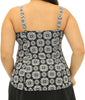 Fit4U Fit 4 Ur Tummy Zip Plus Size Cami Top 804216 image 3 - Brayola
