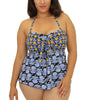 Blue Fit4U Fit 4 Ur Tummy Pleat Front Plus Size Molded Bra Top 804218 image 2 - Brayola