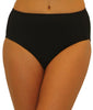 Black Fit4U Fit 4 Ur Tummy Solid Swim Brief 805105 image 2 - Brayola