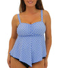 Blue Fit4U Fit 4 Ur D's and E's V-Hem Top 805234 image 2 - Brayola