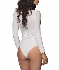 Leg Avenue Long Sleeved Bodysuit 8578 image 3 - Brayola