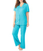 Exquisite Form® 2-Piece Short Sleeve Pajama Set Plus 90807 image 9 - Brayola