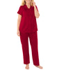 Sangria Exquisite Form® 2-Piece Short Sleeve Pajama Set 90107 image 2 - Brayola