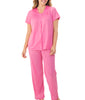 Perfumed Rose Exquisite Form 2-Piece Short Sleeve Pajama Set 90107 image 2 - Brayola